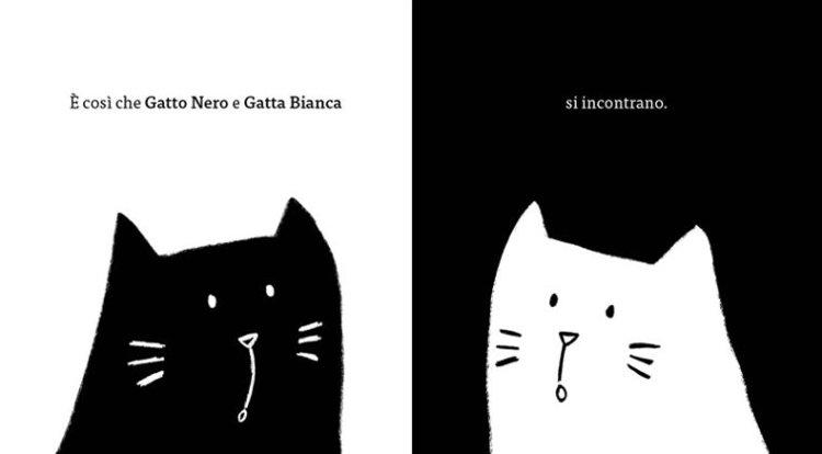 gatto nero gatta bianca minibombo silvia borando